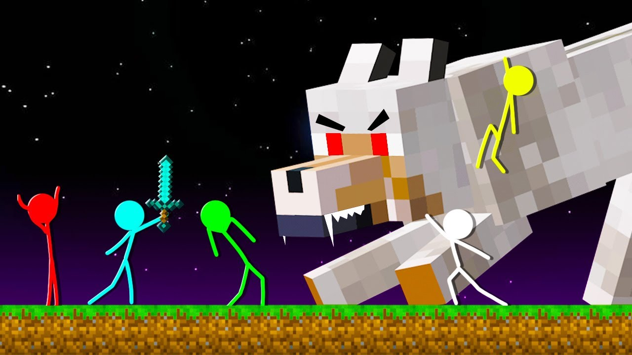 Stickman VS Minecraft: MUTANT WOLF ATTACK - AVM Shorts Animation