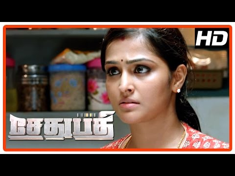 Sethupathi Tamil Movie   Scenes   Vela Ramamoorthy Identified As Murderer   Vijay Sethupathi   Remya