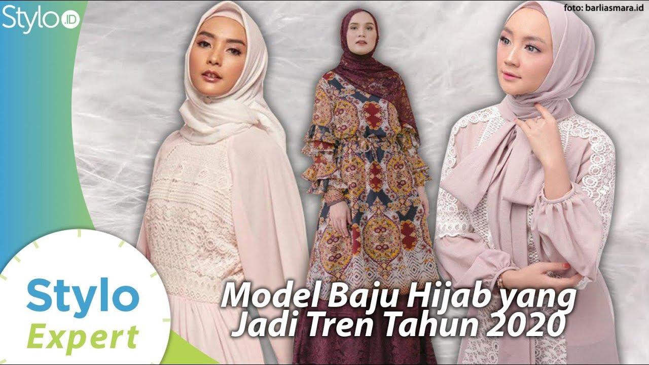 Model Baju Gamis & Tunik Yang Jadi Tren Fashion Hijab 2020 Muslim Terbaru Di Indonesia