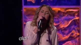 """Miley Cyrus Sings """"You're Gonna Make Me Lonesome When You Go"""" on the Ellen Degeneres Show Video"""