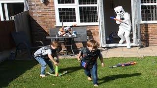 Marshmello Vs Kids Fortnite NERF WAR