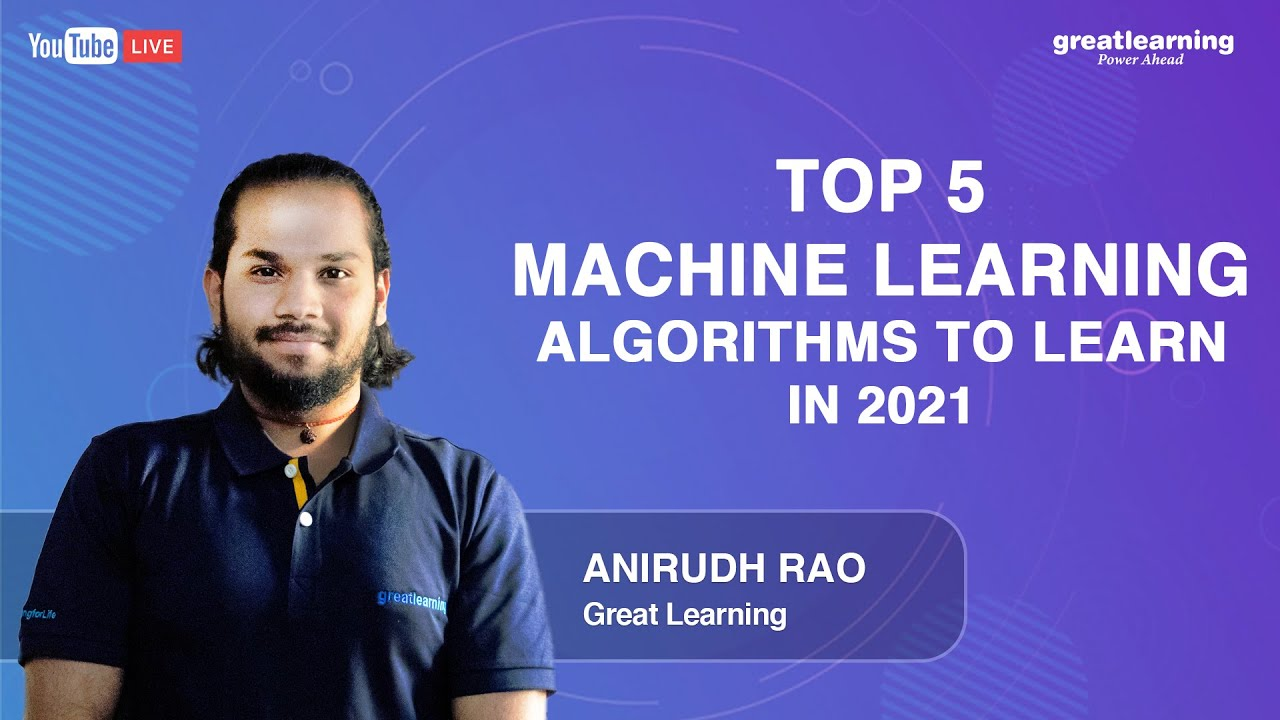 Top 5 Machine Learning Algorithms to learn in 2021 | Machine Learning Tutorial