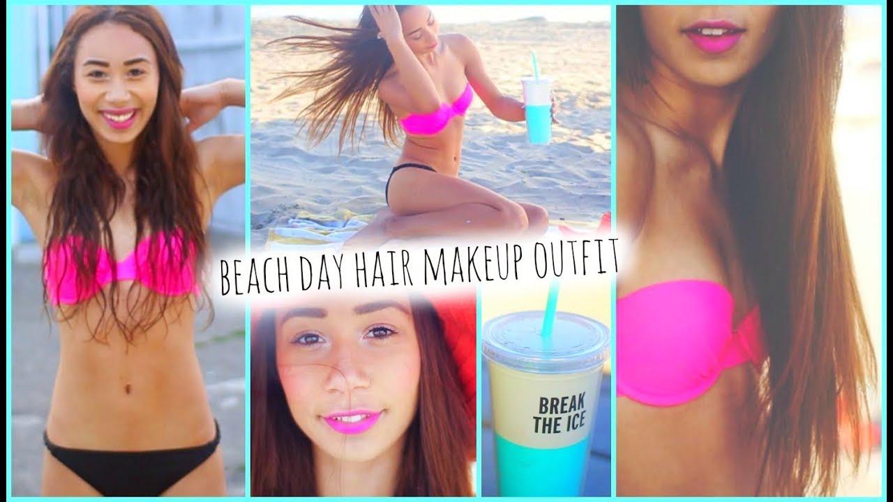 Beach Hair Makeup Outfit Essentials