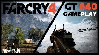 Far Cry 4 PC Gameplay on EVGA GT 640 2GB DDR3 | Core i3 3220 3.3 GHz