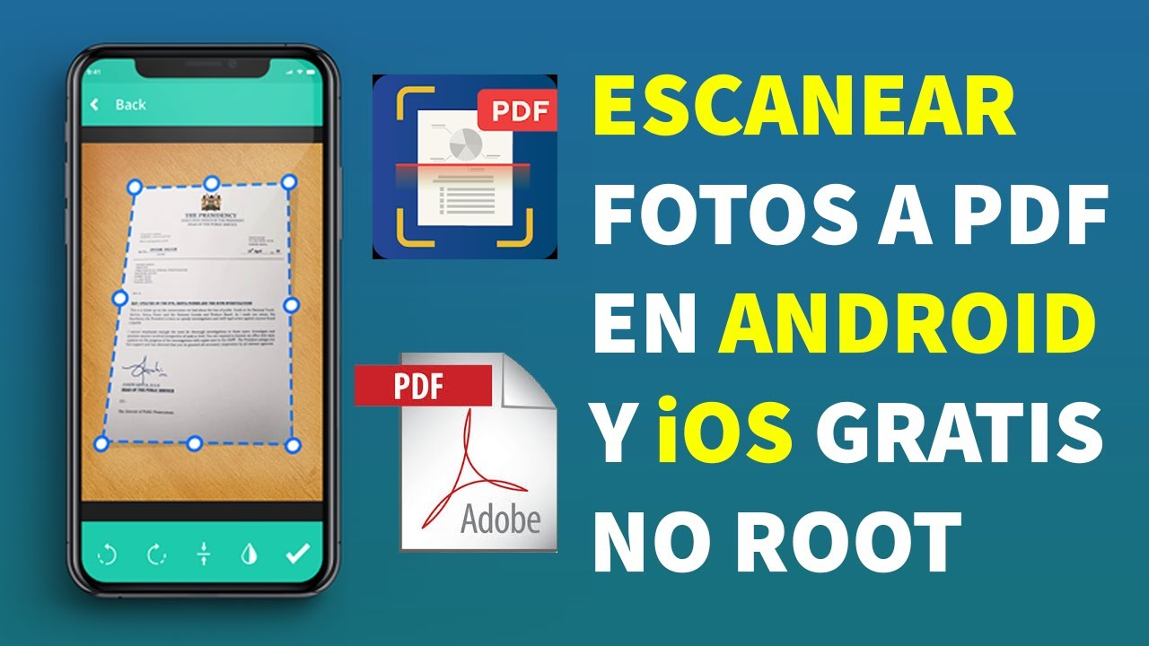 La Mejor App Para Escanear Documentos A Pdf Para Android Y Ios Gratis Funciona Dernis Ayala Youtube