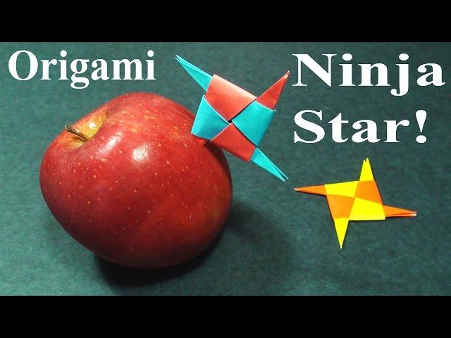 Kağıttan Ninja Yıldızı Yapımı