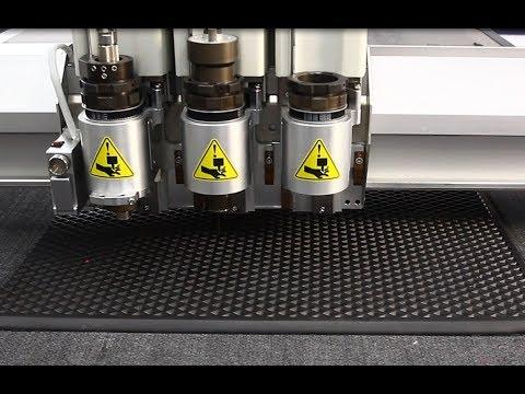 Раскрой материала EVA для производства автоковриков на iECHO BK3