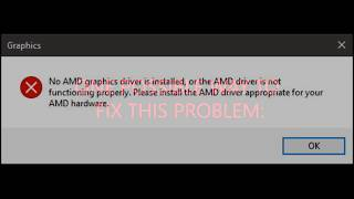 One possible way to fix this problem: No AMD graphics driver is installed...