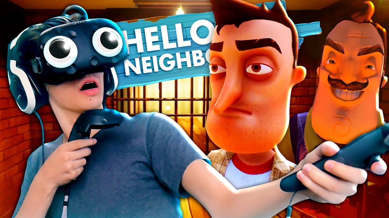 Basement Cheats In Virtual Reality Hello Neighbor Alpha  Vr Hacks Youtube