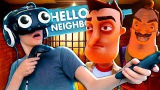 HELLO NEIGHBOR IN VR?! BASEMENT CHEATS IN VIRTUAL REALITY?! (Hello Neighbor Alpha 2 Vr Hacks)