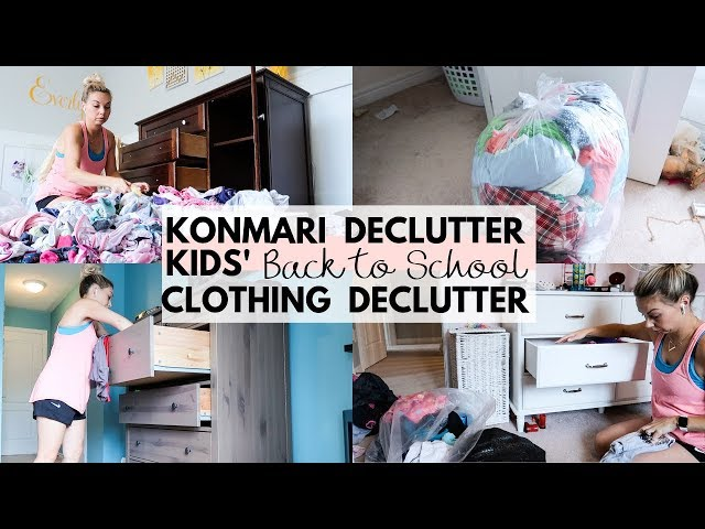 KONMARI Kids Clothing Purge | 2019 Back to School Declutter