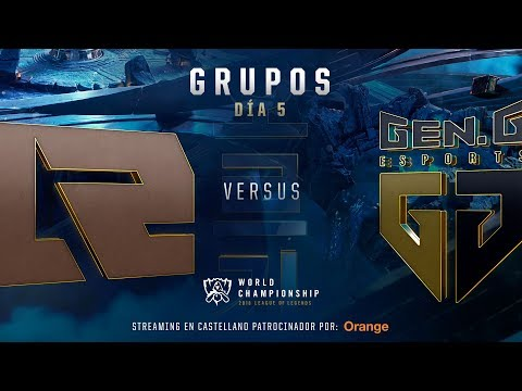 ROYAL NEVER GIVE UP VS GEN G ESPORTS | WORLDS GRUPOS | DÍA 5 | LEAGUE OF LEGENDS WORLDS (2018)