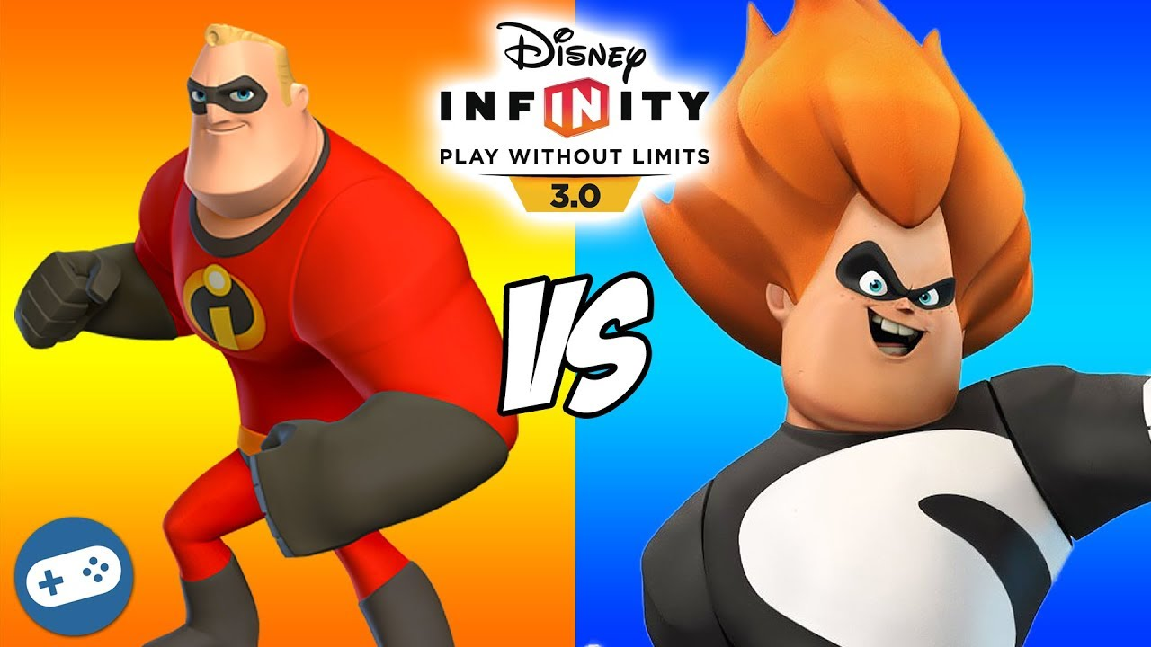 Syndrome Vs Mr Incredible Disney Infinity 3 0 The Incredibles Toy Box Fight Youtube