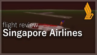 Flight Review | Singapore Airlines ROBLOX