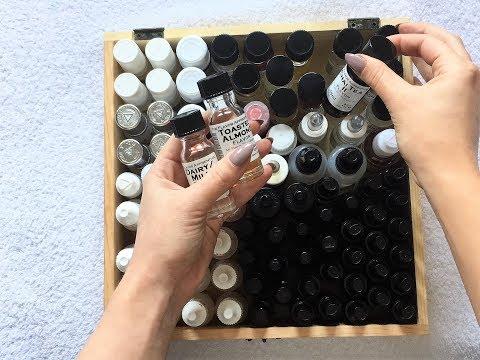 ASMR Sorting & Organizing E-Juices, no talking