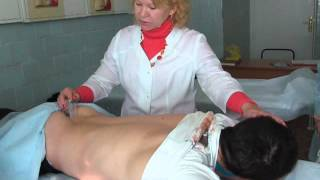 Постановка пиявок при пояснично- крестцовом остеохондрозе.
