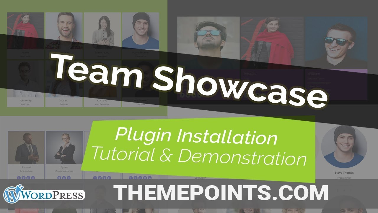 Team Showcase WordPress Plugin Installation Tutorial & Demonstration | ThemePoints.com