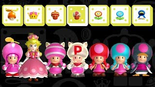 New Super Mario Bros. U Deluxe - All Toadette Transformations
