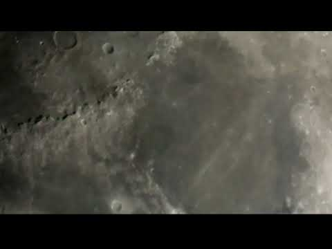Illuminated UFO  Comes Out Of Copernicus Crater's Side Wall & Live Footage