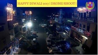 HAPPY DIWALI 2017 | CRACKERS | DRONE SHOTS | PUJA | LIGHTS | DELHI |