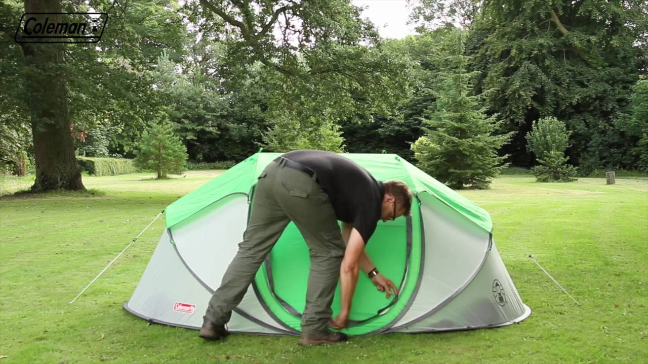 1 Persoons Pop Up Tent Coleman Fastpitch Pop Up Galiano 4 Instant Tent En