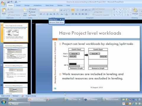 Managing Resource Overallocations in Project 2010
