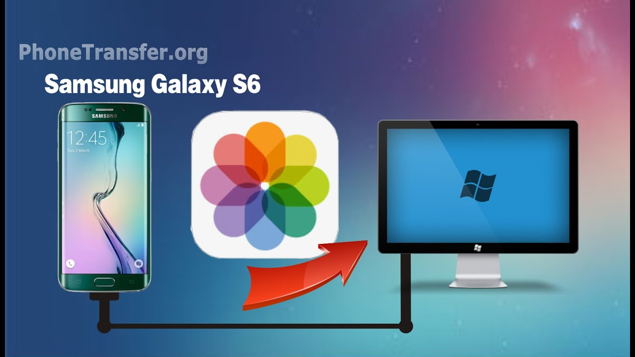 How to import pictures from samsung galaxy s6 to computer