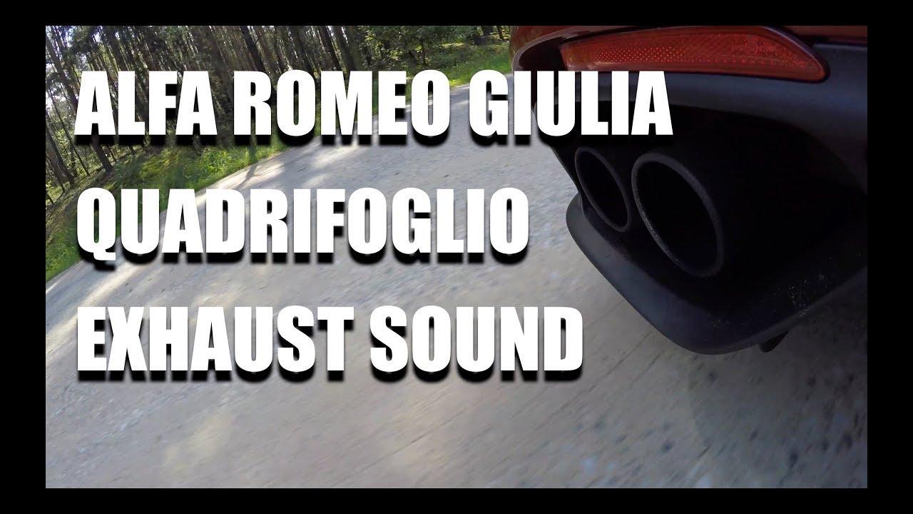 Alfa Romeo Giulia Quadrifoglio exhaust and engine sound