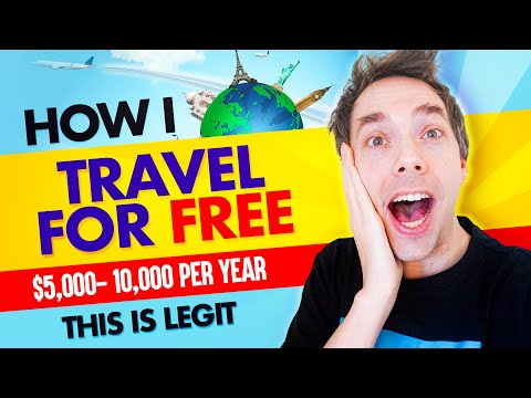 How I travel for free $5,000-$10,000 per year (This Hack is Legit)