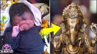 Niña Nacida con trompa de elefante es aclamada como dios hindú