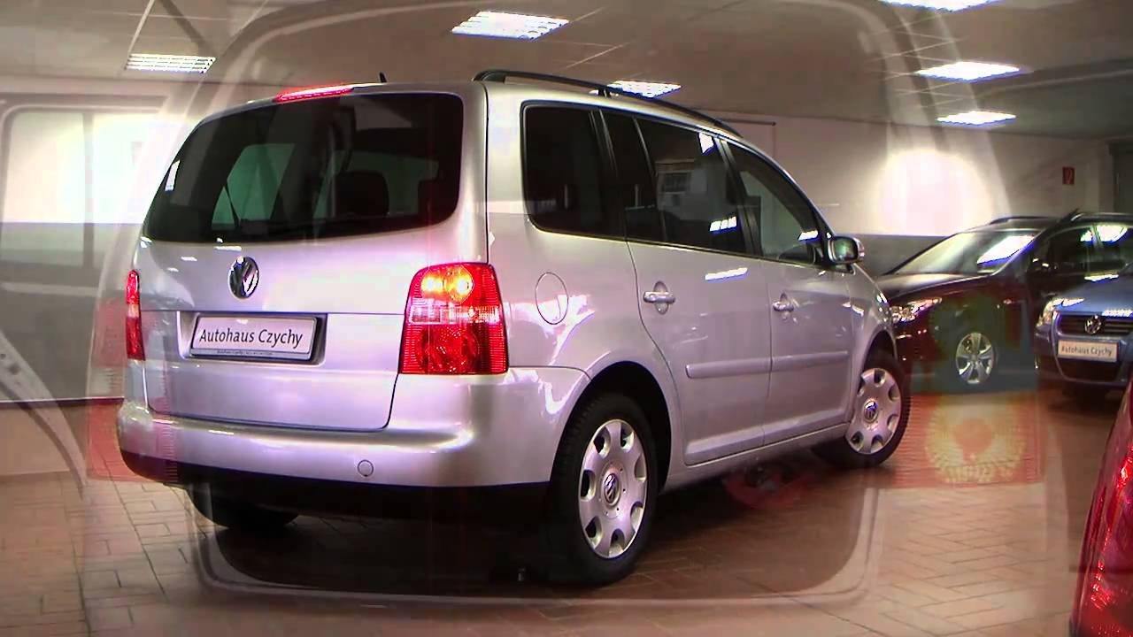 volkswagen touran 2 0 tdi dsg trendline 2005 reflexsilber 6w089340 youtube. Black Bedroom Furniture Sets. Home Design Ideas