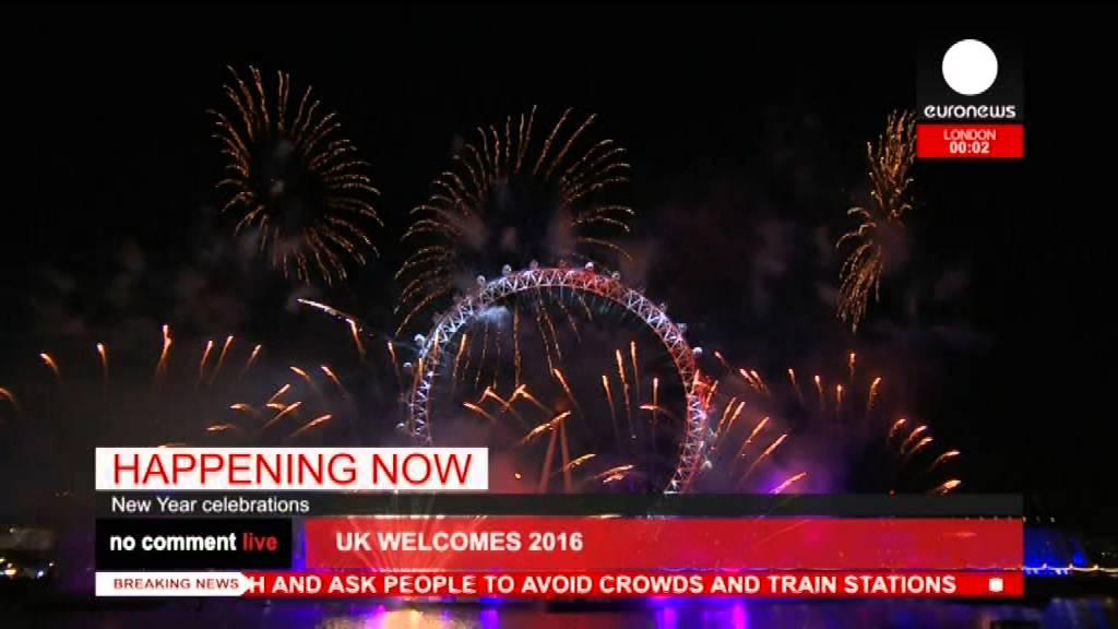 Новогодний салют в Лондоне 2016!(London New Years fireworks 2016)
