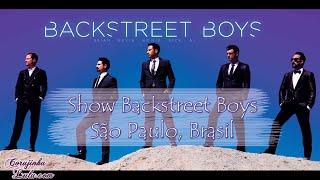 Show da turnê do Backstreet Boys no Brasil