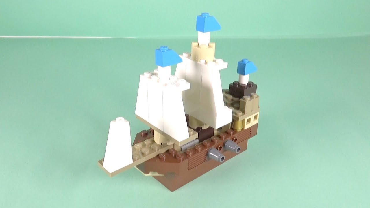 """Download LEGO Pirate Ship Building Instructions - LEGO Classic 10717 """"How To"""""""