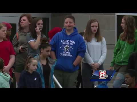 Lewiston Middle School students rally against bullying after classmate's suicide