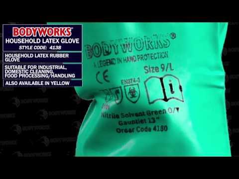 4138 Bodyworks Household Latex Glove