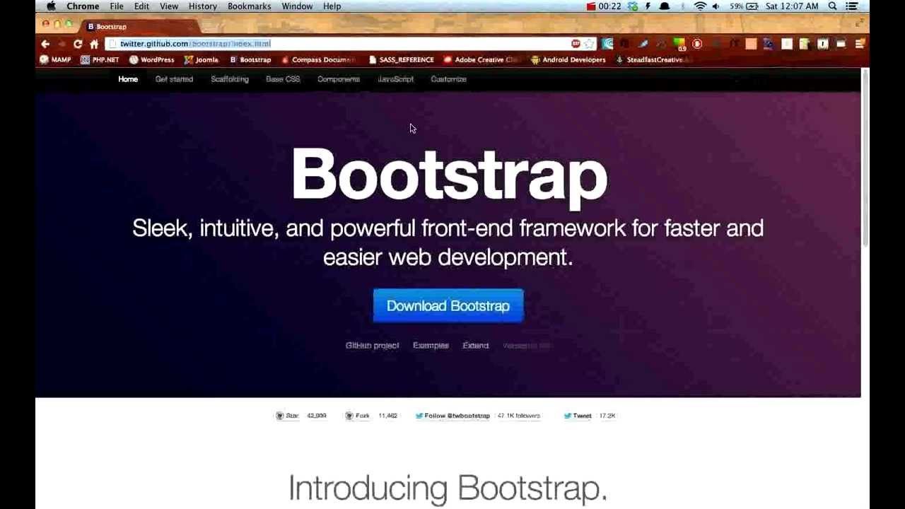 Customize an html5 webpage using the bootstrap framework.