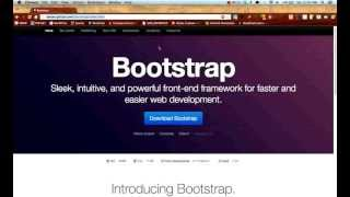 Twitter Bootstrap Tutorials: Getting Started - Lesson 1 thumbnail