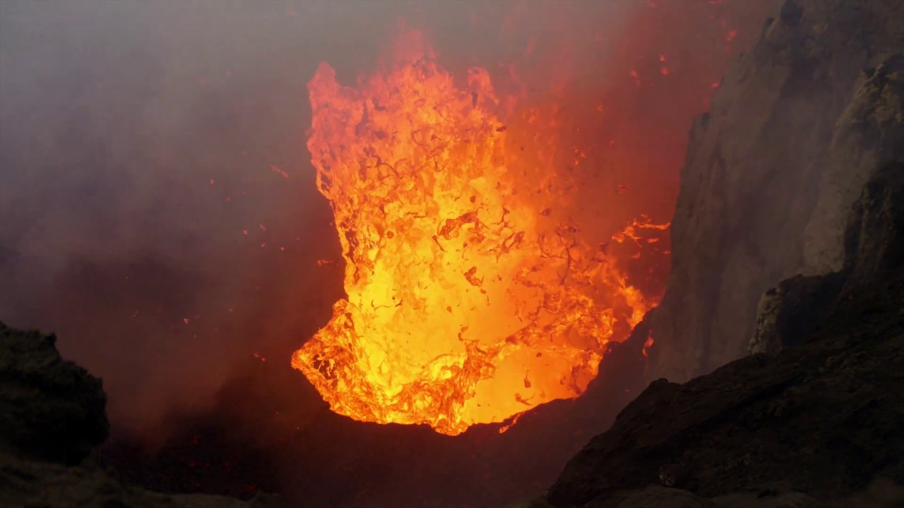 Yasur Volcano 2019 - Lava Explosions & Drone Descent Into Crater