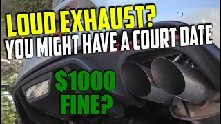 PARTIES OVER - NEW EXHAUST LAW AB1824 - WILL IT AFFECT THE CAR INDUSTRY State Referee Active Exhaust