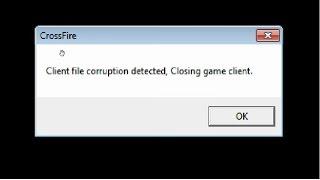 Resolvendo erro do crossfire Al, client file corruption detected