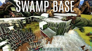 WE WERE IN!  SWAMP BASE GRIEF - Official PVP (E76) - ARK Survival