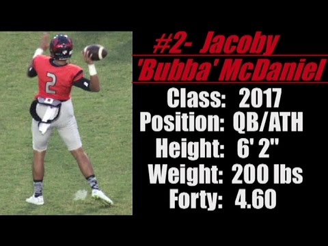 "2017 'Street Light Recruiting' QB-BUBBA MCDANIEL (6' 2""- 200 lbs) 'DOTHAN HIGH SCHOOL' (Dothan, AL)"