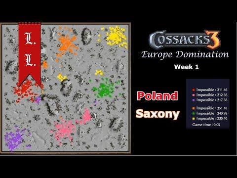 Europe Domination - Cossacks 3 tournament of Nations - Poland vs Saxony (Week 1) |