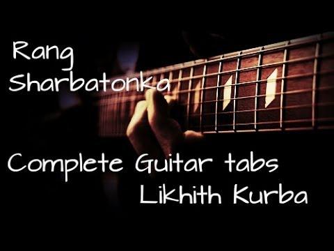 Mai rang sharbaton ka Guitar Lesson(Tabs) by Likhith Kurba