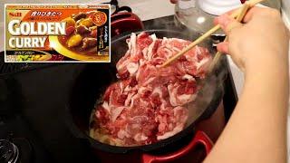豚肉が8割を占める漢カレー作った。