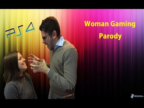 Woman Gaming Parody