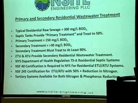 Wastewater Management Workshop I - Chautauqua Lake, NY