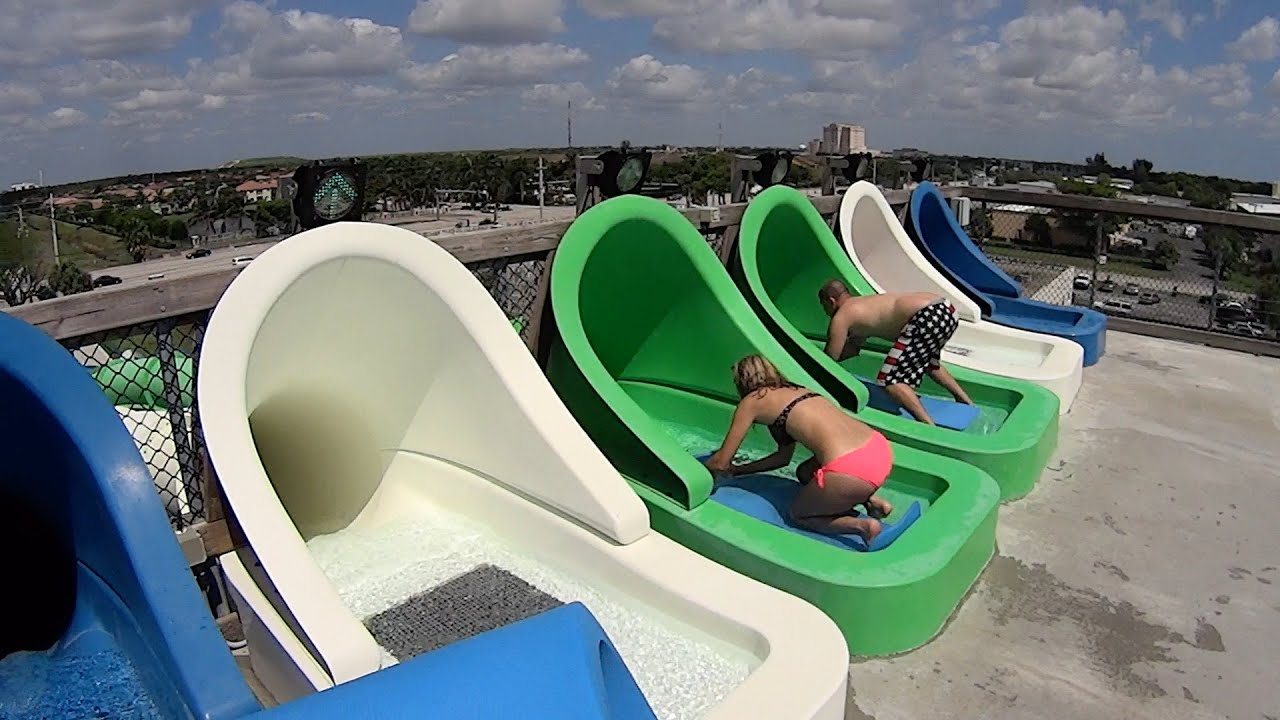Rapids Racer Water Slide At Rapids Water Park Youtube