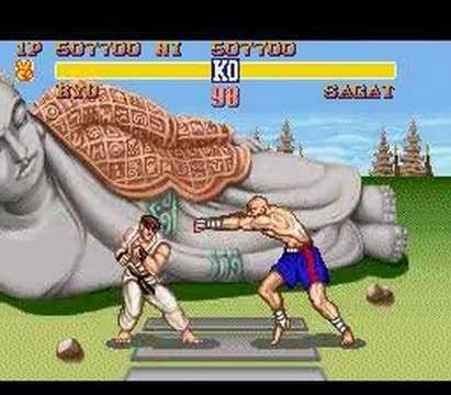SNES Streetfighter 2 - Ryu vs Sagat